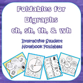 Ch-Sh-Th-Wh Interactive Student Notebook Foldables and Tea