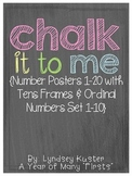 Chalk It To Me {Number Posters 1-20 with Tens Frames and O