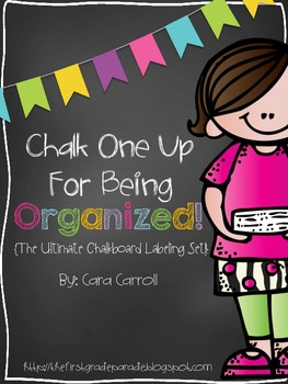 Chalk One Up For Being Organized! {The Ultimate Chalkboard Labeling Set!}