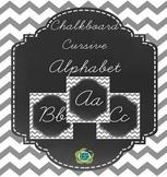 Chalkboard A-Z Cursive Alphabet Poster Set
