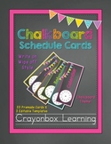 Chalkboard Schedule Cards - with Editable Templates