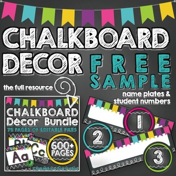 https://www.teacherspayteachers.com/Product/Chalkboard-Decor-FREE-SAMPLE-Name-Plates-Student-Numbers-1872692