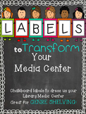 Chalkboard Library Labels perfect for Genre Shelving