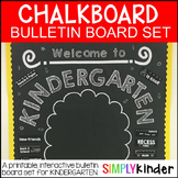 Chalkboard Poster Set - First Day of Kinder