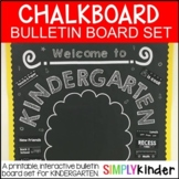 Chalkboard Poster Set - First Day of Kinder