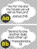Chalkboard Theme Bible Verse Posters