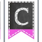 Chalkboard Welcome Banner Flags