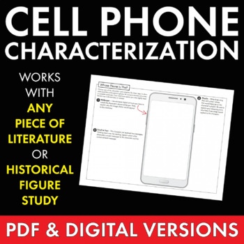 Character Cell Phone, Fun Writing Activity, Use with ANY Literature Grades 6-12