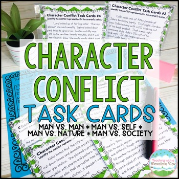 Character Conflict Task Cards { Types of Conflict Task Cards for Common Core }