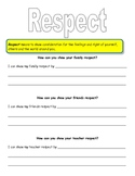 Character Education Worksheets