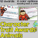 End of the Year Awards- Animal Character Traits