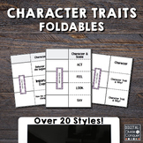 Character Trait Foldables.  Over 25 Styles Aligned w/ Comm