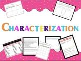 Characterization- graphic organizers, worksheets and hando