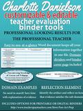 Charlotte Danielson Teacher Evaluation (APPR) Editable At-