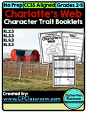 Charlotte's Web Character Trait Booklets {RL.2.3, RL.3.3,