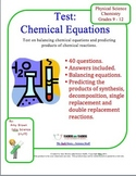 Chemical Equations Test
