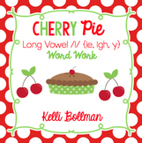 Cherry Pie {long vowel i ~ ie, igh, y} Word Work