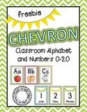 Chevron Alphabet & Numbers {Freebie}