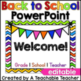 Back to School Night PowerPoint {Editable}