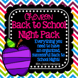 Chevron Back to School/Meet the Teacher Night Pack (Editable)