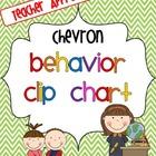 Chevron Behavior Clip Chart Freebie
