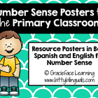 Chevron Bilingual Number Sense Posters