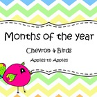 Chevron & Bird Months of the Year