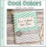 Cool Colors Editable Teacher Planner