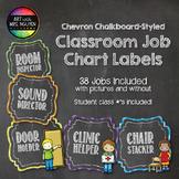 Chevron Chalkboard Style Classroom Jobs Chart