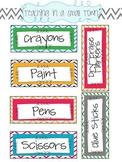 Chevron Classroom Supply Labels- Small