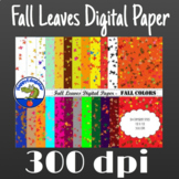 Fall Leaves Digital Paper - Fall Colors