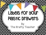 Cute Chevron Drawer Labels with Banners
