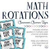 Math Rotations Signs: Chevron
