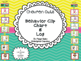 Chevron Owls Behavior Clip Chart and Log