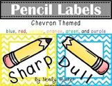 Chevron Pencil Labels