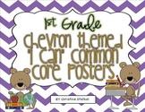 "Chevron Themed ""I Can"" Common Core Posters {1st Grade}"
