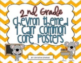 """Chevron Themed """"I Can"""" Common Core Posters {2nd Grade}"""