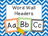 Chevron Word Wall Headers