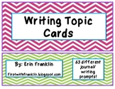 Chevron Writing Prompt Cards