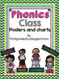 Chevron and Polkadot Phonics Class posters