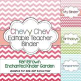 Chevy Chev - An Editable Chevron Teacher Binder