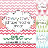 Chevy Chev - An Editable Chevron Teacher Binder
