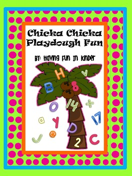 Chicka Chicka Boom Boom Letter and Number Playdough Mats