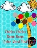 Chicka Chicka Color Word Find
