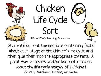 Chicken Life Cycle Sort Packet