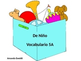 Childhood and Toys Vocabulary Realidades 2 Chapter 4A