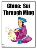 China Set: Sui to Ming