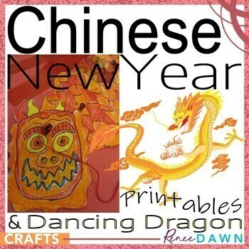 Chinese New Year 2015 - New Year Printables - Chinese Dancing Dragons