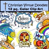 Christian Doodles Clip-Art: 12 Pieces