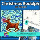 Christmas Art Rudolph Impressionist Oil Pastel Art Project